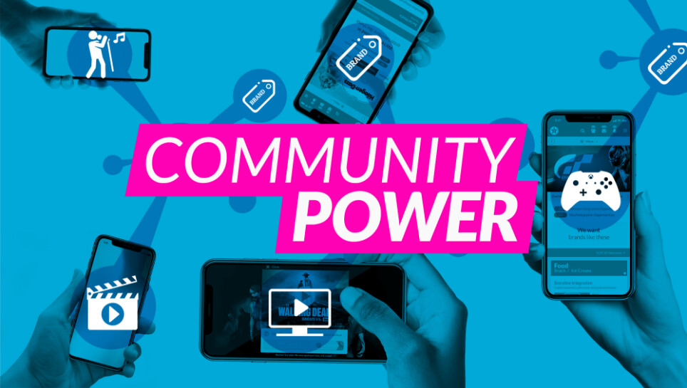 Advertising and entertainment community power