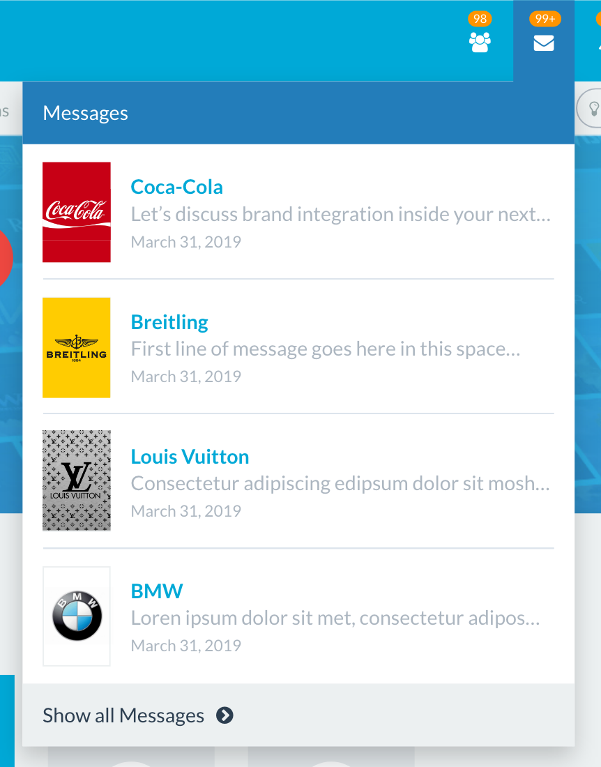 collaboration messaging feature