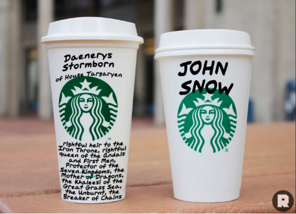 Game of thrones starbucks cups
