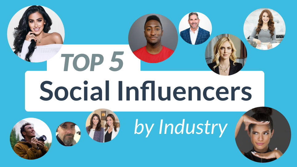 Top 5 social influencers by industry