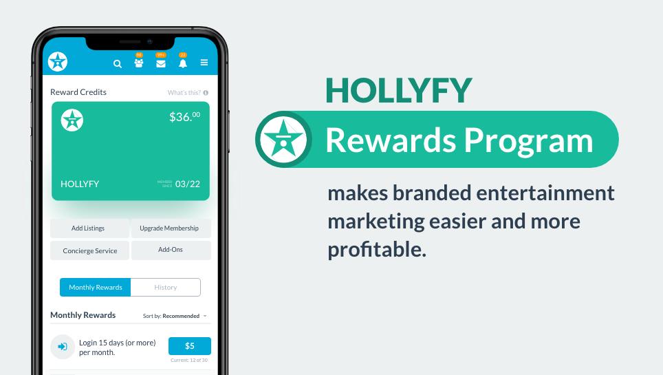 HOLLYFY rewards make branded entertainment easier and more profitable