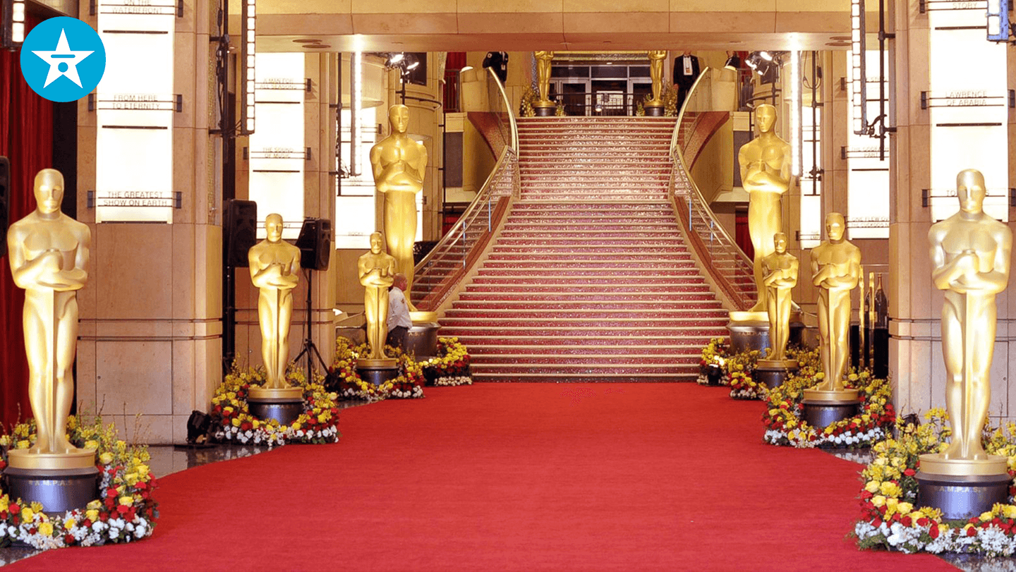 oscars red carpet zoom background