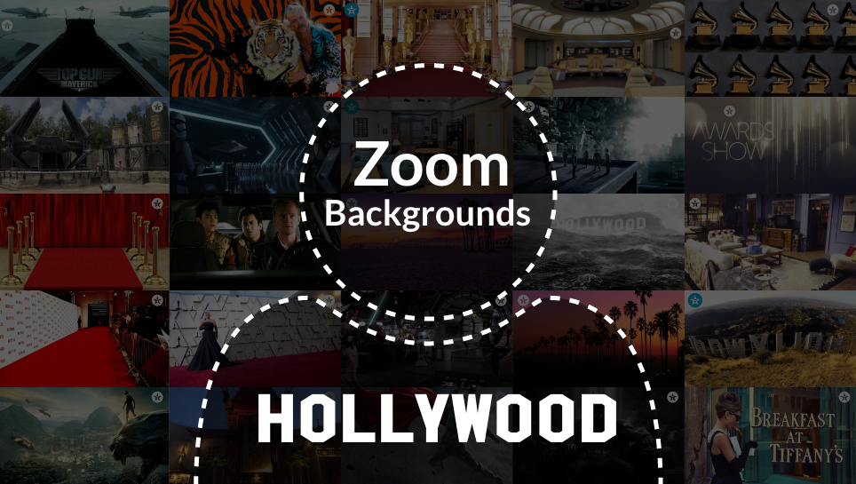 zoom backgrounds hollywood