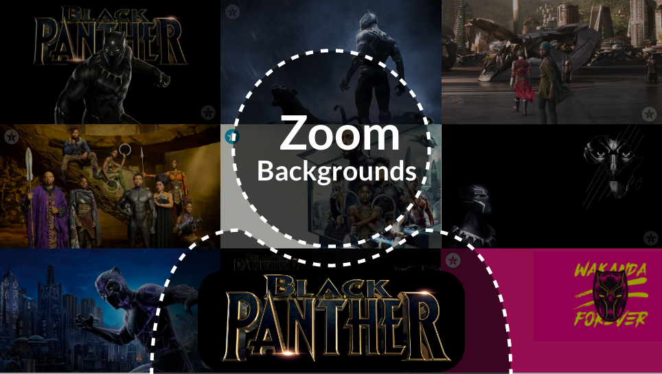 Black Panther Zoom backgrounds