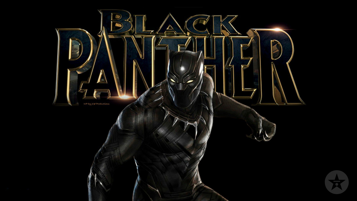 Black Panther movie title zoom background