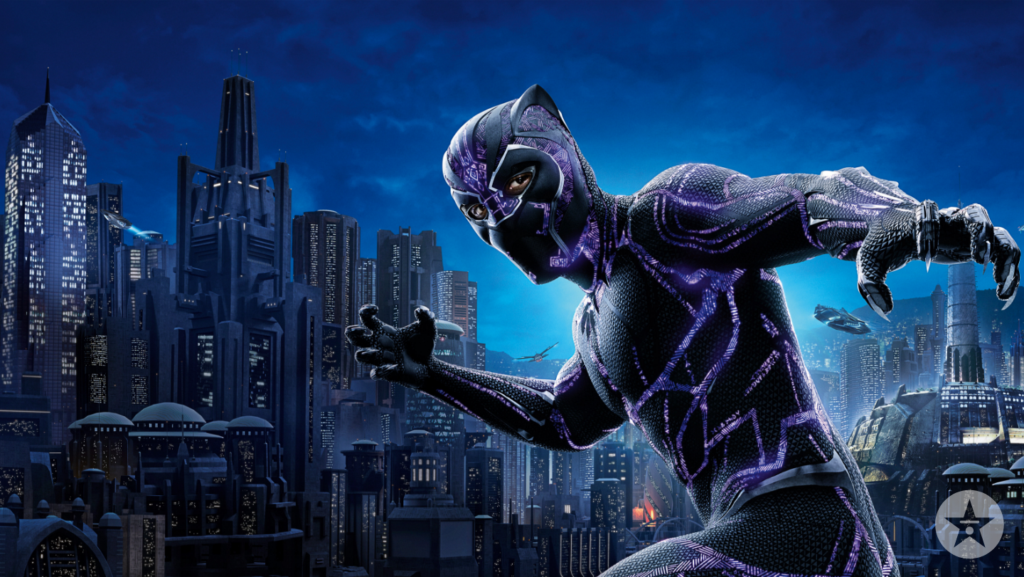 Black Panther city zoom background